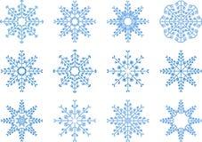 Insieme di vettore del fiocco di neve Immagine Stock