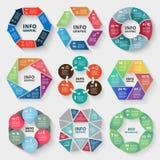 Insieme di vettore del infographics dell'estratto del cerchio illustrazione di stock