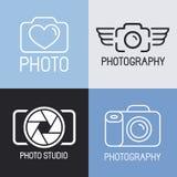 Insieme di vettore del logos di fotografia royalty illustrazione gratis