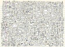 Insieme di vettore del taccuino di abbozzo di Doodle Fotografia Stock