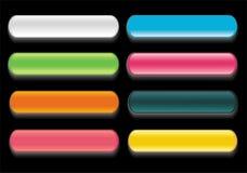 Insieme di vettore del Web lucido al neon Fotografia Stock Libera da Diritti