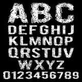 Insieme di vettore dell'alfabeto bianco rotto Fotografia Stock