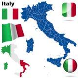 Insieme di vettore dell'Italia. Fotografia Stock Libera da Diritti
