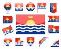 Insieme di vettore della bandiera del Kiribati illustrazione di stock