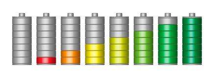 Insieme di vettore della batteria 3D Fotografie Stock Libere da Diritti