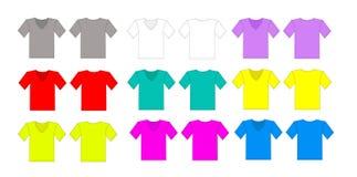 Insieme di vettore della maglietta di colore Fotografie Stock Libere da Diritti