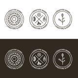 Insieme di vettore della natura e del logo di viaggio illustrazione vettoriale