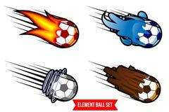 Insieme di vettore della palla dell'elemento Illustrazione Vettoriale