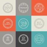 Insieme di vettore delle etichette, dei distintivi e degli emblemi Fotografie Stock Libere da Diritti