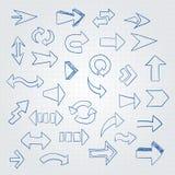 Insieme di vettore delle frecce differenti Fotografia Stock