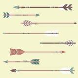Insieme di vettore delle frecce etniche Royalty Illustrazione gratis
