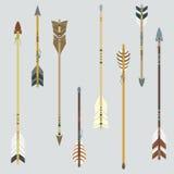 Insieme di vettore delle frecce etniche variopinte Illustrazione Vettoriale