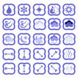 Insieme di vettore delle icone del tempo Fotografia Stock