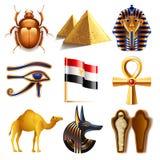 Insieme di vettore delle icone dell'Egitto illustrazione di stock