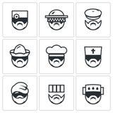 Insieme di vettore delle icone della gente di professione illustrazione di stock