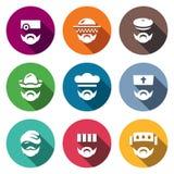 Insieme di vettore delle icone della gente di professione royalty illustrazione gratis