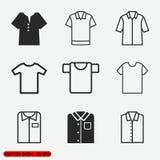 Insieme di vettore delle icone della maglietta Immagine Stock