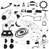 Insieme di vettore delle icone dello spazio Immagine Stock