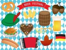 Insieme di vettore delle icone di festival della birra Fotografia Stock Libera da Diritti