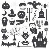 Insieme di vettore delle icone di Halloween Immagine Stock Libera da Diritti