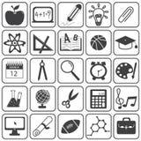 Insieme di vettore delle icone di istruzione di base Fotografia Stock Libera da Diritti