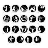 Insieme di vettore delle icone di sport Fotografie Stock Libere da Diritti