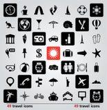insieme di vettore delle icone di viaggio Fotografie Stock