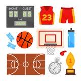 Insieme di vettore delle icone di pallacanestro illustrazione vettoriale