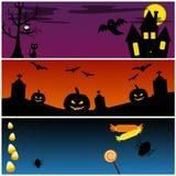Insieme di vettore delle insegne di Halloween Fotografie Stock