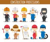 Insieme di vettore delle professioni della costruzione Immagine Stock