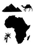 Insieme di vettore delle siluette dell'Africa illustrazione vettoriale