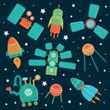 Insieme di vettore delle tecniche dello spazio per i bambini royalty illustrazione gratis