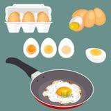 Insieme di vettore delle uova dell'illustrazione Fotografia Stock Libera da Diritti