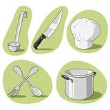 Insieme di vettore di articolo da cucina. royalty illustrazione gratis