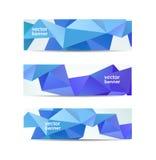 Insieme di vettore di geometrico sfaccettato moderno di cristallo Immagini Stock