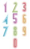 Insieme di vettore di numeri allineati di eco Fotografia Stock