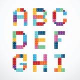 Insieme di vettore di stile dei blocchetti di alfabeto Fotografie Stock