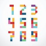 Insieme di vettore di stile dei blocchetti di alfabeto Immagini Stock