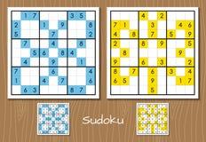 Insieme di vettore di sudoku di colore Immagini Stock