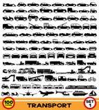Insieme di vettore Icone del trasporto immagini stock libere da diritti