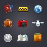 Insieme di viaggio Fotografia Stock