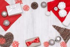 Insieme di vista superiore del Natale Fotografia Stock
