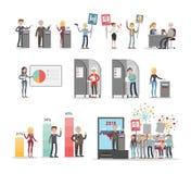 Insieme di voto della gente royalty illustrazione gratis