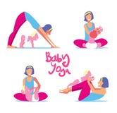 Insieme di yoga del bambino Immagine Stock Libera da Diritti