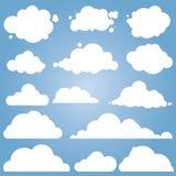 Insieme differente di vettore della nuvola Immagini Stock Libere da Diritti