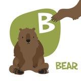 Insieme divertente della lettera di alfabeto di vettore degli animali del fumetto Fotografia Stock