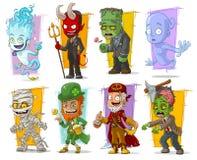 Insieme divertente fresco di vettore dei caratteri del mostro del fumetto Fotografia Stock