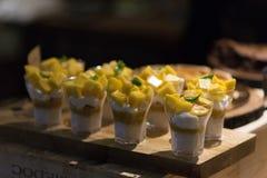 Insieme dolce del dessert del mango Immagini Stock