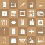 Insieme domestico dell'icona dell'attrezzatura royalty illustrazione gratis