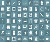 Insieme domestico dell'icona dell'attrezzatura illustrazione di stock